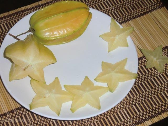 Экзотические тайские фрукты - стар фрут